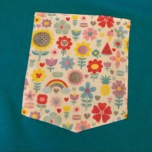 Disney Tops - Epcot Flower and Garden Blue Pocket T-shirt